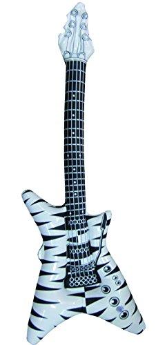 Aufblasbare-Gitarre-Luftgitarre-Rock-Glam-Poser-V-Form-schwarz-wei