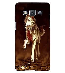 Citydreamz Dog Hard Polycarbonate Designer Back Case Cover For Samsung Galaxy E7