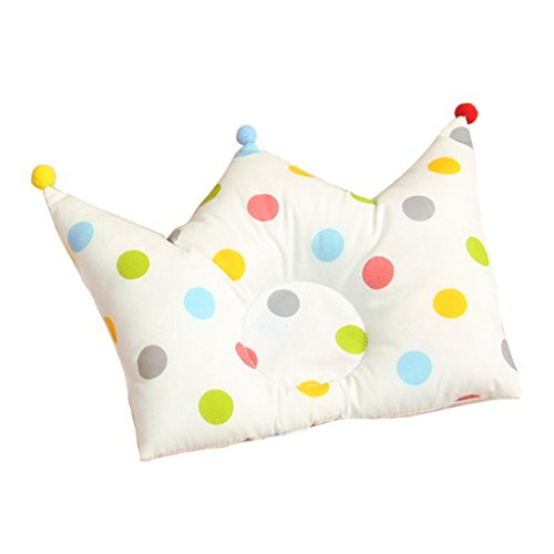 GudeHome Babykissen Neugeborenen Baumwoll kopfkissen Kissenform kopfform kinderwagen Weiche Kissen