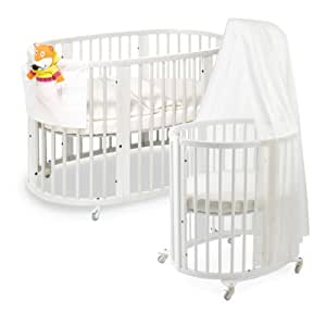 stokke sleepi system white crib bedding. Black Bedroom Furniture Sets. Home Design Ideas