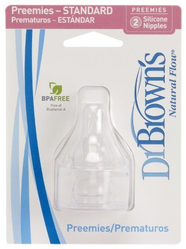 Dr. Brown's Natural Flow Preemie Standard Nipple (8 Pack) - 1