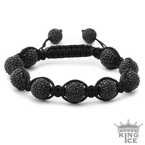Shamballa Jewelry: All Black Everything Swarovski Crystal Shamballa Bracelet