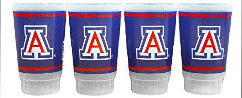 NCAA Arizona Wildcats 16oz Plastic Tumbler Set