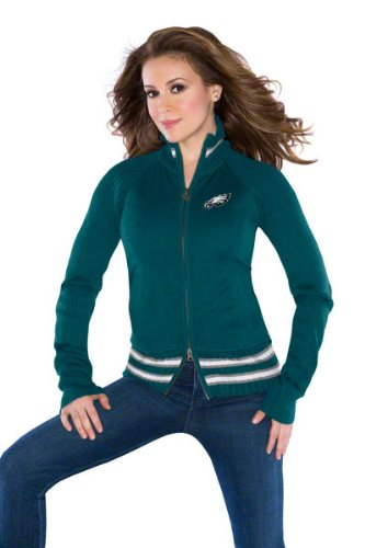 Philadelphia Eagles Women's Full-Zip Sweater Mix Jacket - by Alyssa Milano at Amazon.com