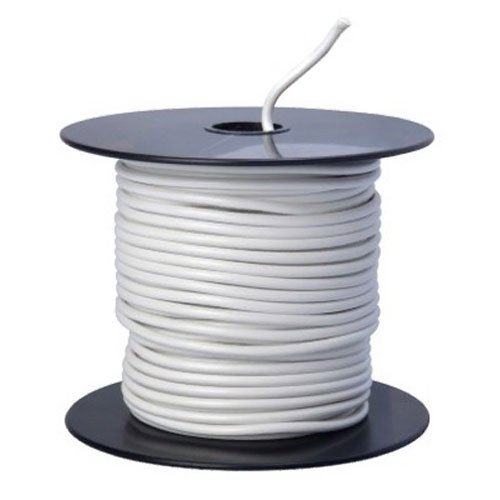 Southwire 55669023 Primary Wire, 14-Gauge Bulk Spool, 100-Feet, White (Color: White, Tamaño: 14-Gauge)