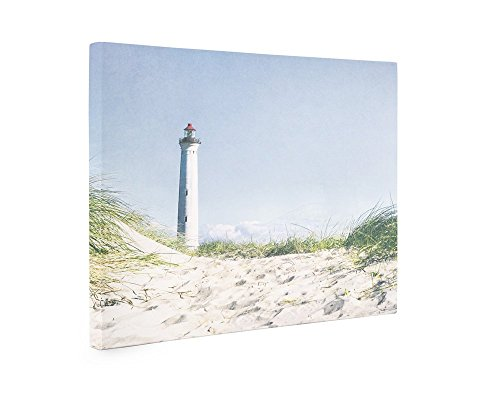 Large Canvas Print, Blue Coastal Wall Art, Beach Themed Wall Decor Picture, 'The Lighthouse' (Space Pirate Sala compare prices)