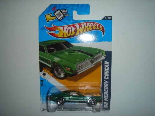 2012 Hot Wheels KMart Exclusive Muscle Mania - Ford '68 Mercury Cougar Green #119/247