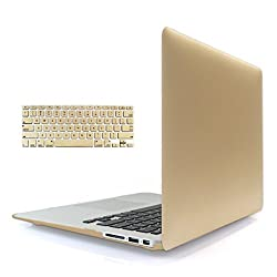 Magideal Rubberized Hard Shell Case for New MacBook Retina 12inch Gold