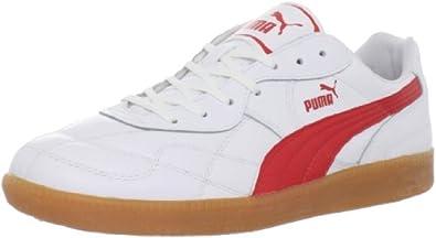 PUMA Men's Esito Classic Sala Soccer Cleat,White/PUMA Red,7 D US