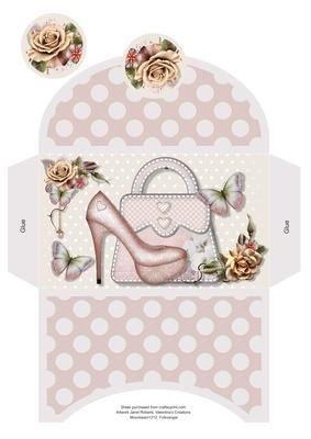 & Borsetta rosa, portafoglio by Janet Roberts