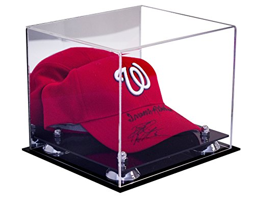 Deluxe Acrylic Display Case for Sports Baseball Hat or Cap with UV Protection with Mirror (A006-SR) (Clear Hat Display compare prices)