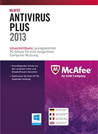 McAfee AntiVirus Plus 2013 - 1 User [Download]