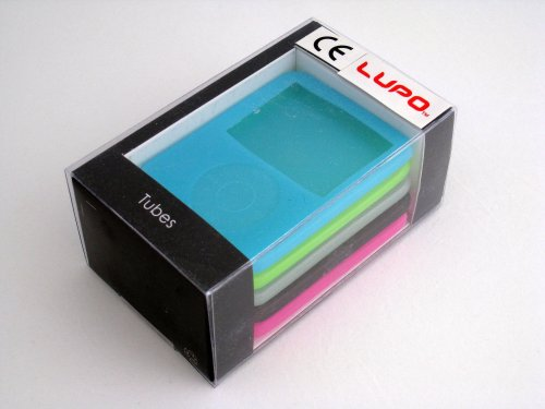 LUPO APPLE IPOD NANO 3RD GENERATION CASES (SKINS) PACK -5  COLOURS (GREEN, PINK, CLEAR, BLACK, BLUE)