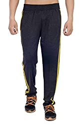 ahhaaaa Dark grey Regular Fit Cotton Trackpant for Men (X-Large)