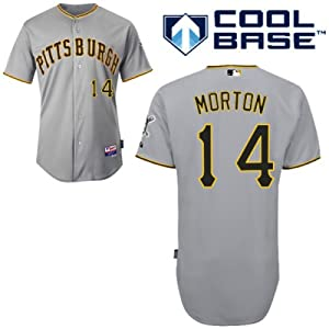 Charlie Morton Pittsburgh Pirates Road Authentic Cool Base Jersey by Majestic by Majestic