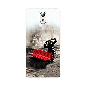 Skintice Designer Back Cover with direct 3D sublimation printing for Lenovo VIBE P1m