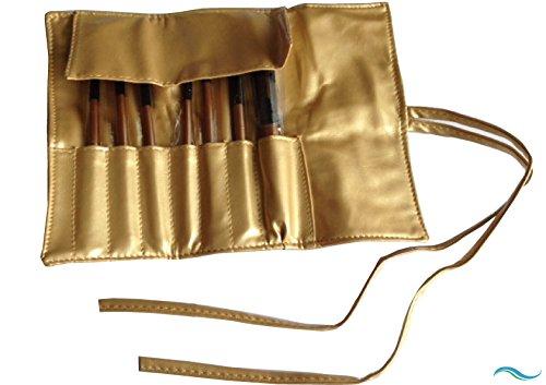 B.T.S.S 高級メイクアップブラシセット ブラシ7本&専用ゴールドケース付き 羊毛