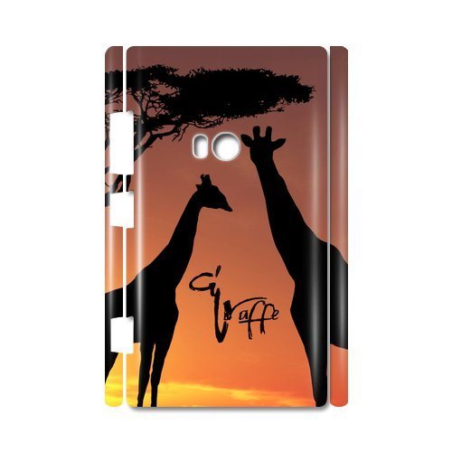 Giraffe Sunset Cucoloris Custom 100% Plastic 3D Case For Nokia Lumia 920