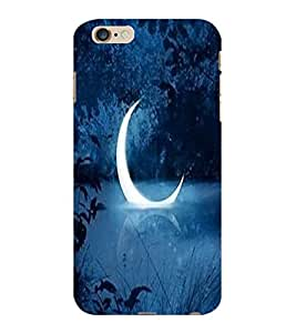 ColourCraft Moon View Design Back Case Cover for APPLE IPHONE 6 PLUS