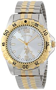 U.S. Polo Assn. Classic Men's USC80052 Two-Tone Analogue Silver Dial Expansion Watch