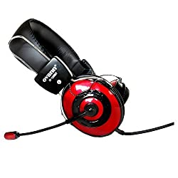 Red / Black Computer Pc Laptop Headphone Headset With Microphone Mic For Skype Msn Gtalk