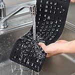 シリコンキーボード 防水 400-SKB013BK