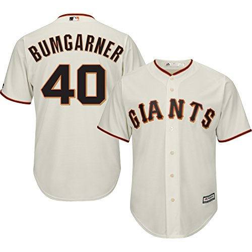 Madison Bumgarner San Francisco Giants #40 MLB Youth Cool Base Home Jersey (Youth Medium 10/12)