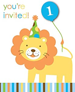 Creative Converting Sweet at One Boys 1st Birthday Party Invitations, 8 Count from Creative Converting