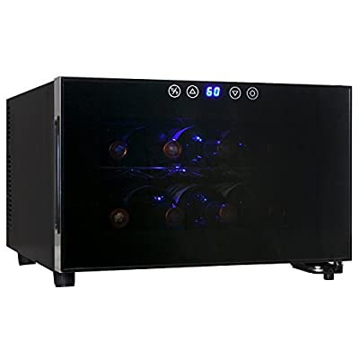AKDY® Black Freestanding Thermoelectric Counter Wine cooler Cellar Quiet Operation