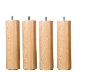 jeu de 4 pieds bois naturel hauteur 25 cm cuisine maison. Black Bedroom Furniture Sets. Home Design Ideas