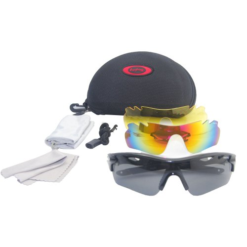 THG Polarised Shatterproof PC Lens Black Frame Sun Glasses UV400 Goggles For Outdoor Sport Hunting Golf Fishing Hiking Riding