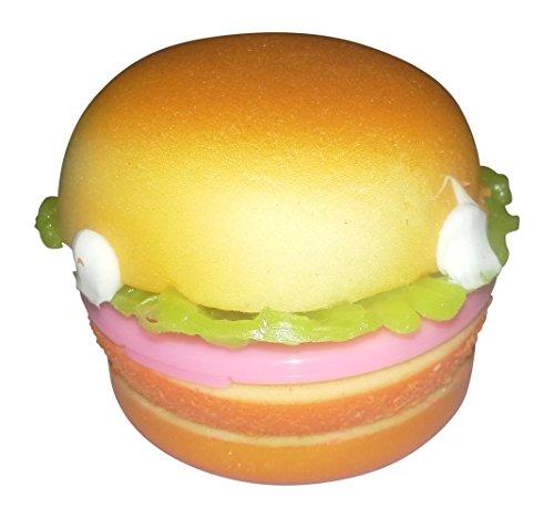 Squishy Burger Mirror : Squishy & Slow Rise Chicken Burger Slider Compact Mirror with Ball Chain