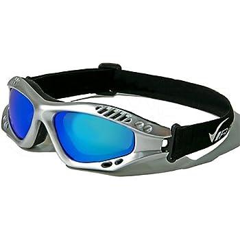 Virage Masque et Lunettes de Soleil - Multisports - Vtt - Moto - Voile - Conduite - Motard / Mod. Storm Gris Bleu Iridium / Taille Unique Adulte / Protection 100% UV400