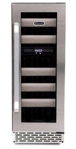 Whynter Bwr-171Ds Elite 17-Bottle Seamless Stainless Steel Door Dual Zone Built-In Wine Refrigerator front-587781