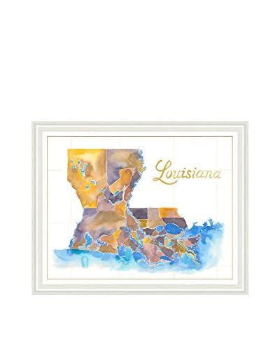 Art Source Watercolor Louisiana Map