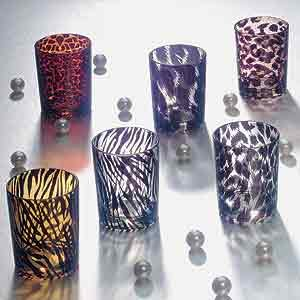 SS-A-33610, Animal Print Candle Holder Set 6 Pcs/ Box