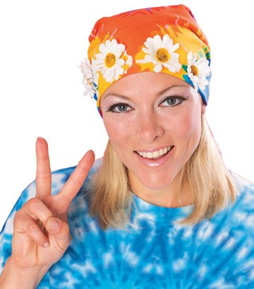 Rubie's Costume Co Tyedye Bandana with Daisies Costume