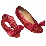 Girls Dorothy Wizard Of Oz Ruby Shoe Covers Fancy Dress
