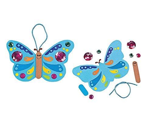 Jewel Butterfly Ornament Craft Kit (1 dz) - 1