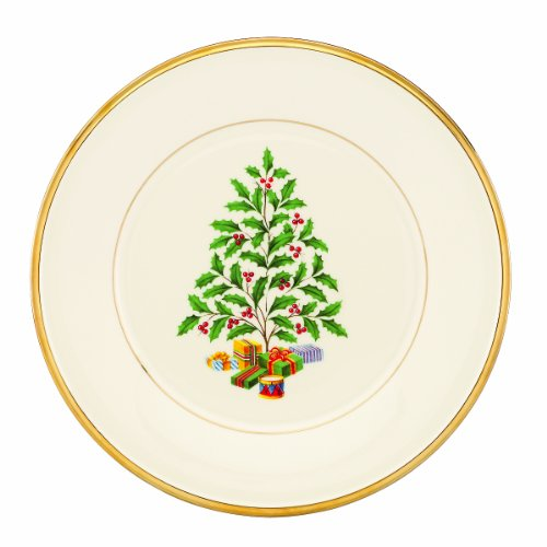 Whatu0027s the best Lenox Holiday Tree Accent Plate? Lenox Holiday Tree Accent Plate Price Comparison.  sc 1 st  Lenox Holiday Plate Untold Secrets - Blogger & Lenox China Holiday Nouveau-Gold Salad Plate Fine China Dinnerware ...