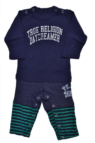 Review: True Religion Baby-boys Infant Three Piece Long Sleeve Bodysuit, Dark Navy, 6-12 Months  Review