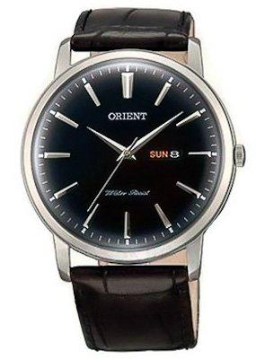 Orient UG1R002B - Orologio da polso da uomo, cinturino in pelle colore nero