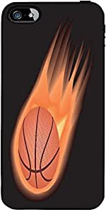 Snoogg Basketball Fire Designer Protective Back Case Cover Forapple Iphone 4 ...