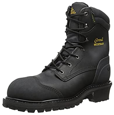 Chippewa Men's 8 Inch Oiled WP Comp Rubber Toe Logger Boot,Black,7 M US