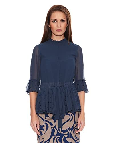 Tonalá Camisa Mujer París Azul