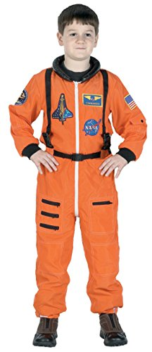Boys Astronaut Suit Orange Kids Child Fancy Dress Party Halloween Costume