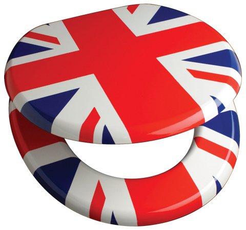 Union Jack Toilet Seat With Chrome Bar Hinge 82910 EBay
