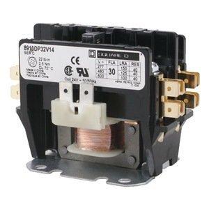 Dp Compact Contactor, 24Vac, 30A, Open, 2P