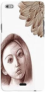 PRINTVISA Girly Sad Sketch Mobile Case Cover for Micromax Canvas Sliver 5 Q450 (Multicolour)