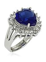 Art de France Anillo Heart (plata de ley 925 milésimas rodiada / Azul)